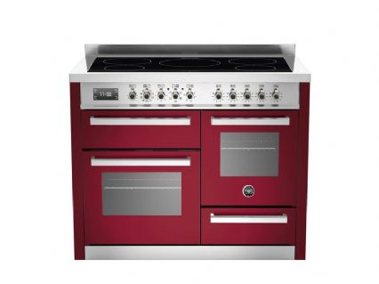 Beratzzoni 110 cm Burgundy 5 Zone induction triple oven Professional Series PRO-110-IND-XG-VIT